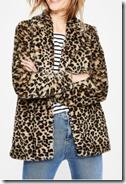 Boden Leopard Print Faux Fur coat