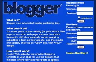 Photo: Blogger (ca. 1999)