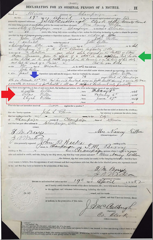 GILLEN_John_Private_Civil War Pension file 12_annotated