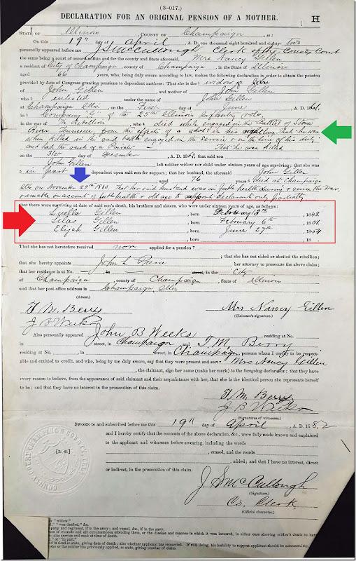 GILLEN_John_Private_Civil War Pension file 12_annotated