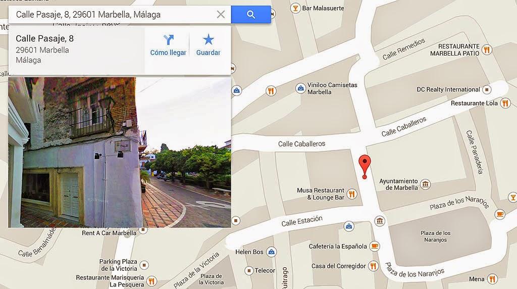 Callejuela donde nació Rafaela Aparicio en 1906. (Google Maps)