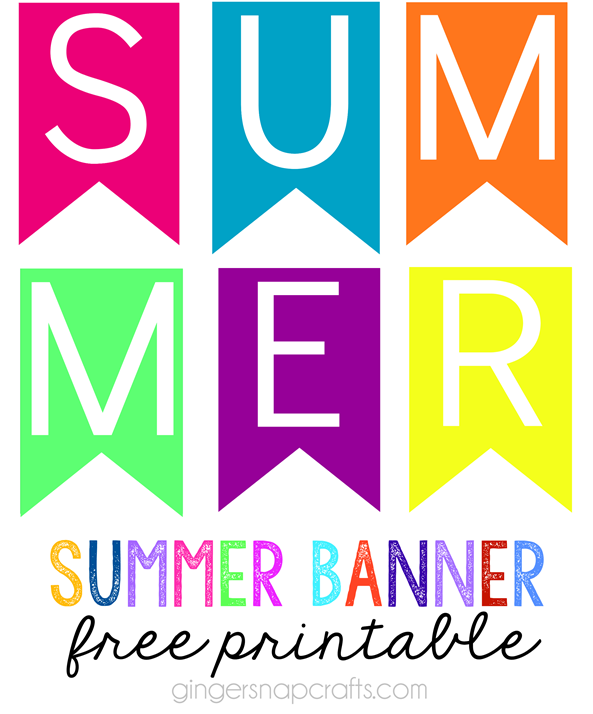 Summer Banner Free Printable at GingerSnapCrafts.com