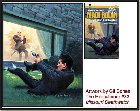 Executioner #83, art by Gil Cohen, MensPulpMags.com