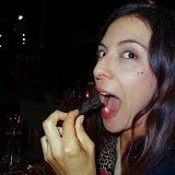 Maria tries a Mophane worm