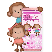 Cute Cartoon Monkey Theme