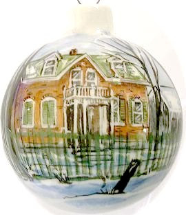 Custom House Portrait Ornament by Serena Boschert.