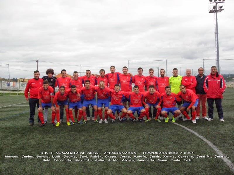 Equipo de afeccionados do Numancia de Ares. Temporada 2013-2014