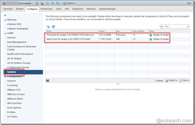 vSAN - Configuration Assistant Update Tool