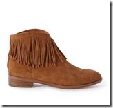 Karen Millen suede fringed ankle boot