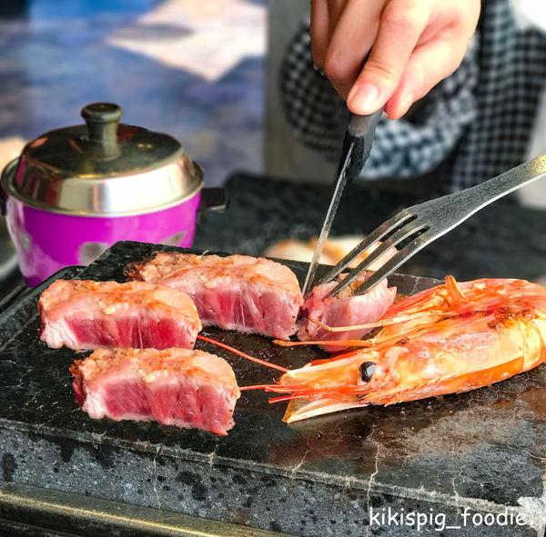 秘燒時尚岩燒牛排-日本火山岩板DIY烤肉體驗