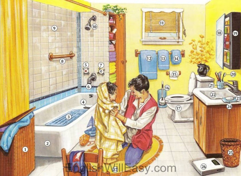Picture Dictionary / Place / Bathroom