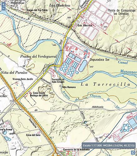 Mapa y localización de la villa.