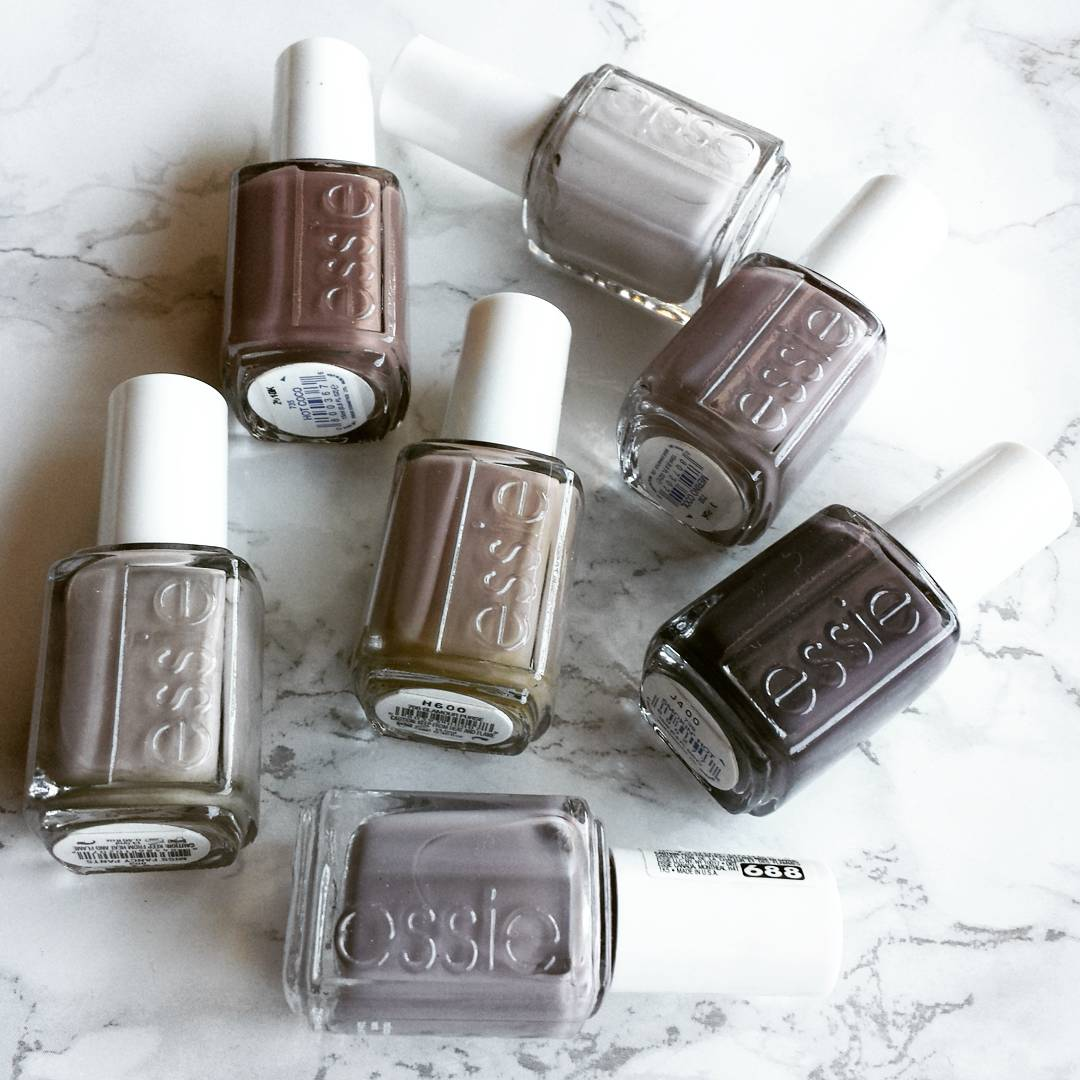 Essie gray, greige and taupe shades - My Beauty Galleria