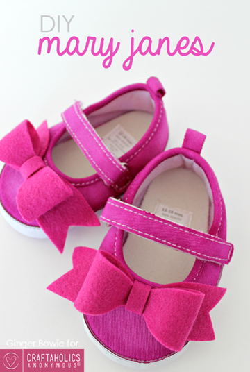 DIY Mary Janes Baby Shoes #felt #baby_thumb