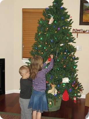 Decorating Grandma's Tree