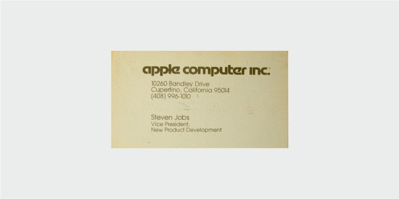 apple business card