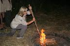 první novopečená tříorloperačka Nata zapaluje oheň