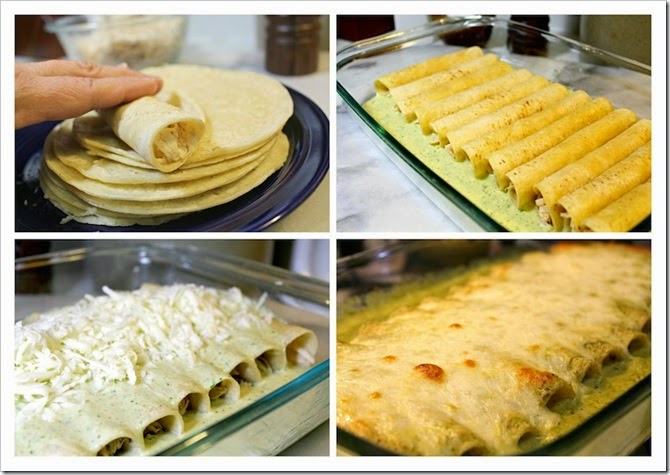 Quick Enchiladas Suizas | step by step instructions.