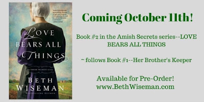 New Release Love Bears All Things by Beth Wiseman
