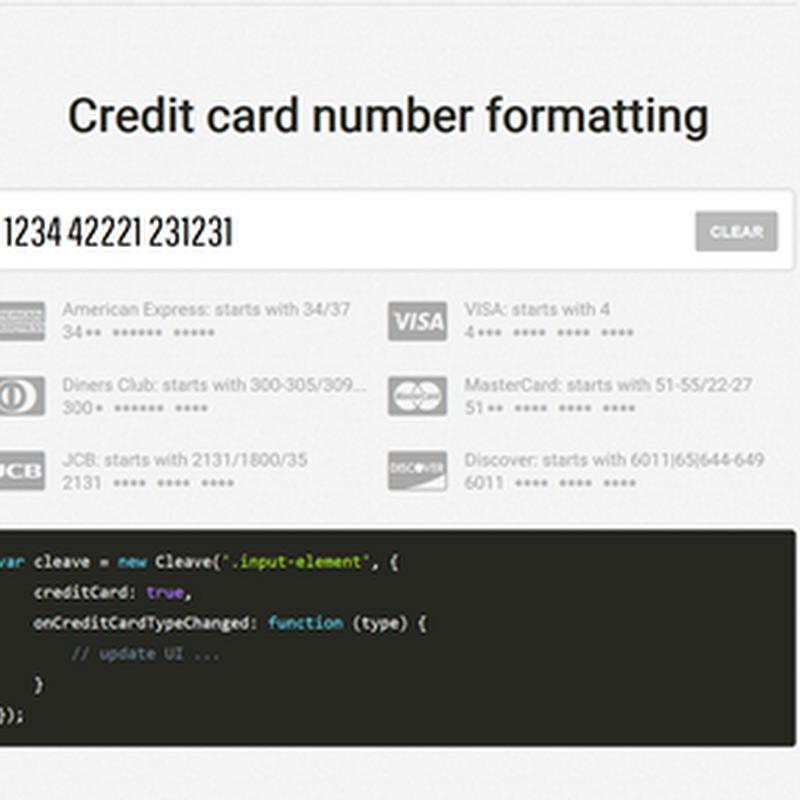 Cleave.js, para dar formatos avanzados a las cajas de texto con jQuery