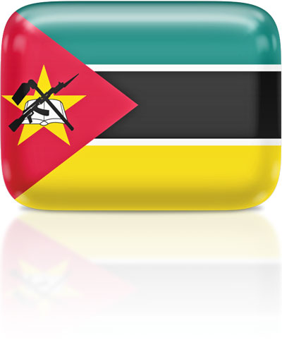 Mozambican flag clipart rectangular