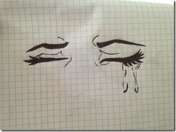 dibujos lapiz llorar y tristeza  (5)