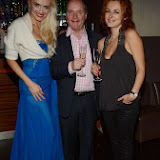 WWW.ENTSIMAGES.COM -   Lana Holloway, Adam Helliker and Aliona Muchinskaya  at    Lana Holloway - birthday party at Avista Bar, The Millennium Hotel Mayfair, London December 16th 2013                                                   Photo Mobis Photos/OIC 0203 174 1069