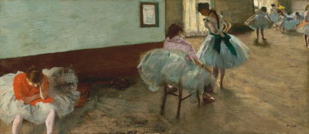 Edgar Degas: The dance lesson (NGA Images)
