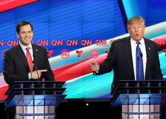 This is what happens when Windows updates in the middle of a GOP Debate