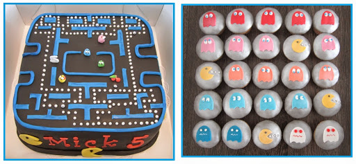941- Pacman Taart en Cupcakes.JPG