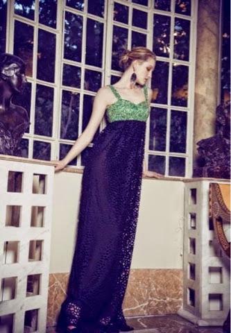 vestido largo verde botella