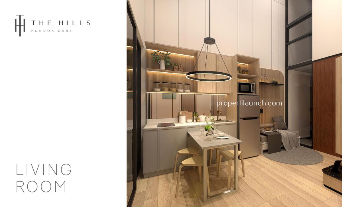Interior Desain Dapur Rumah The Hills Pondok Cabe Tipe 32