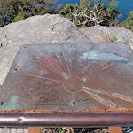 Compass plaque at Mt Ettalong Lookout (221216)