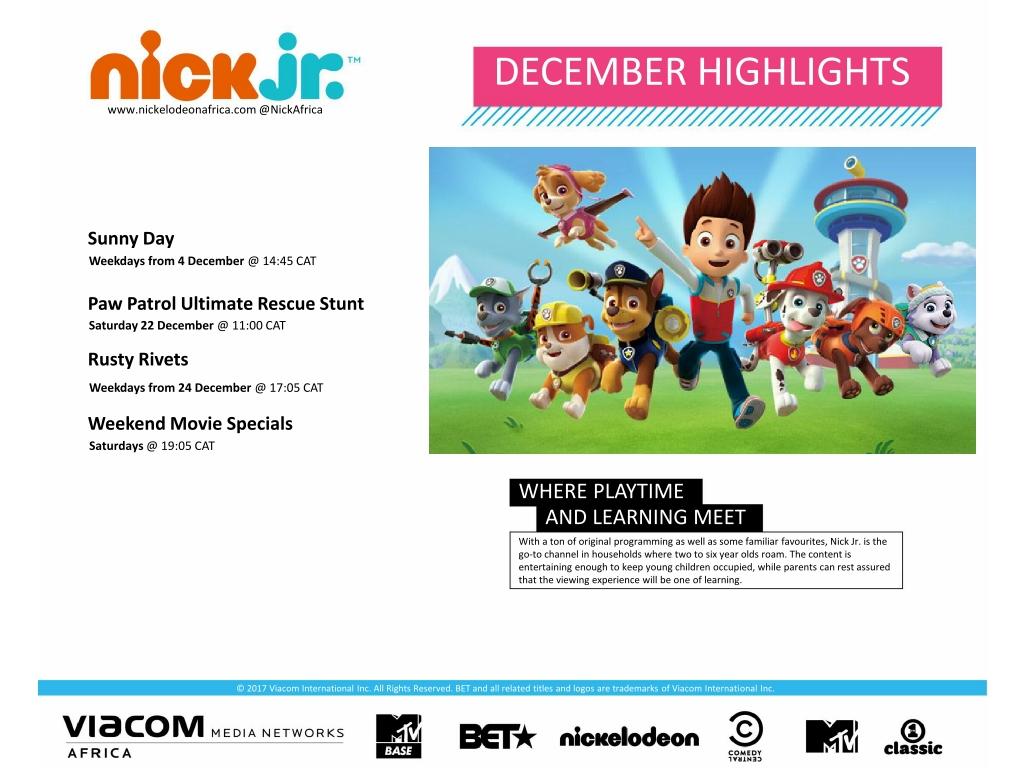 Entertainment Inside Us: Nick Jr Africa