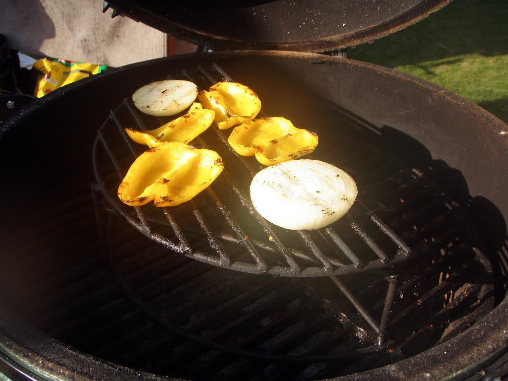 Grilling the veggies on a raised grate lets them get nice and juicy without overcooking.