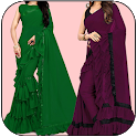 Women Fashion Ruffle Saree App Free icon