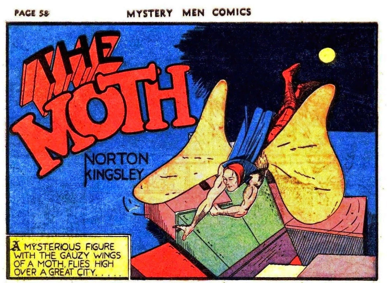 The Moth  da Mystery Men Comics 9