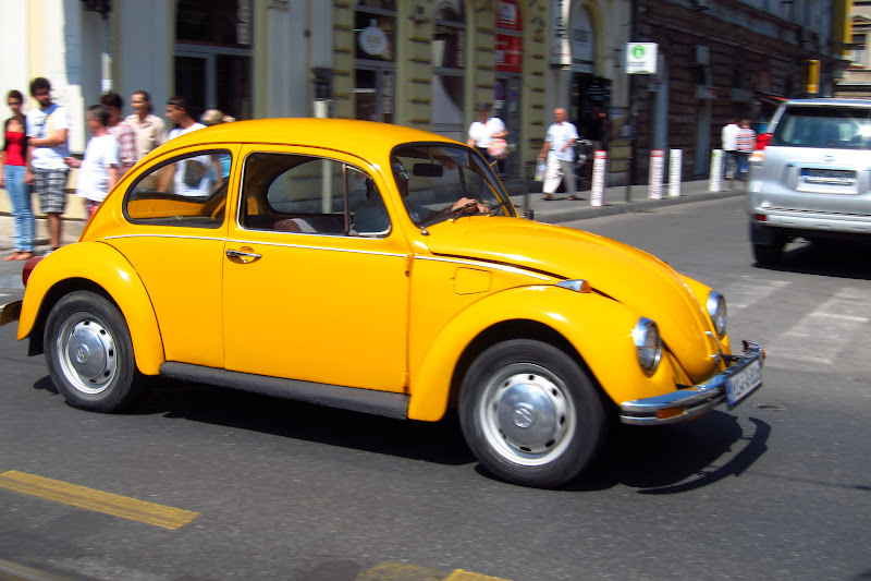 Yellow VW Beetle