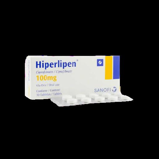 Ciprofibrato Hiperlipen 100mg x 30 Tabletas  Sanofi