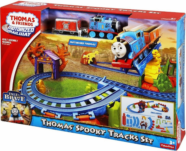 Sản phẩm Motorized Railway Thomas' Spooky Tracks Set Fisher Price BMF09