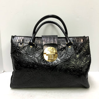 Etro Embossed Leather Satchel