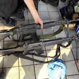 weapons at Comiket 84 - Tokyo Big Sight in Japan in Tokyo, Tokyo, Japan