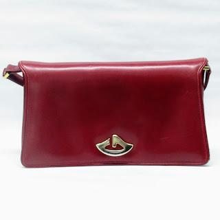 Vintage Gucci Red Leather Bag