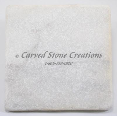6x6 Crystal White Marble Tumbled Tile