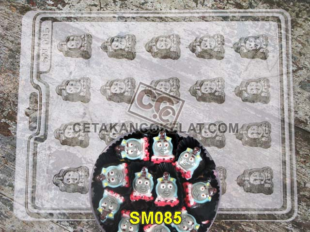 cetakan coklat cokelat SM085 SM85 mold mould thomas friends kereta train karakter #cetakancoklat