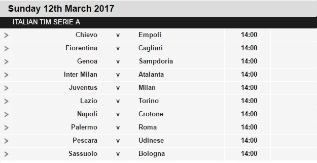 Serie%2BA%2Bschedule%2B28 Planning a Football Trip to Italy - SERIE A FIXTURES 2016/17