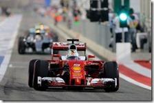Sebastian Vettel con la Ferrari