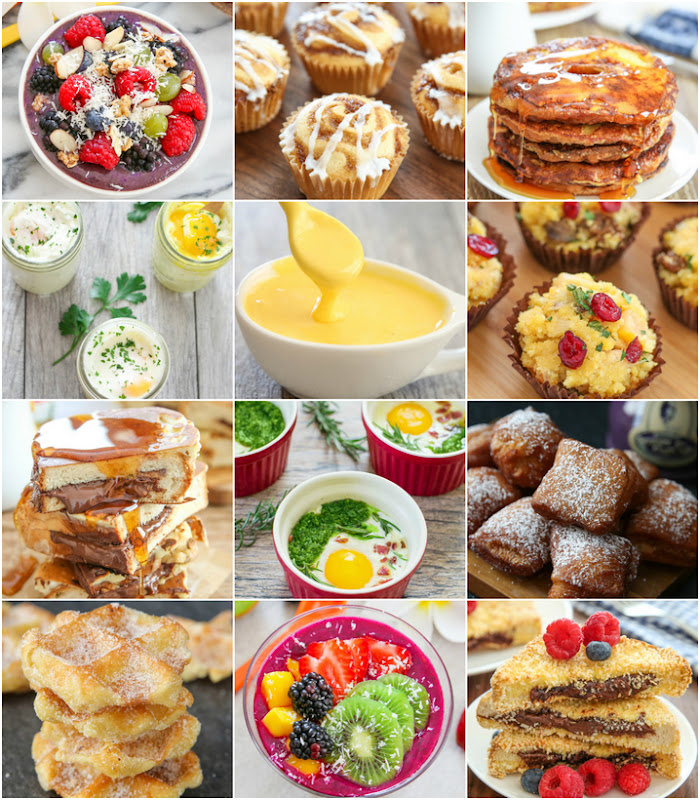 photo collage of breakfast and brunch dishes