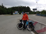 Croatian border; my brother is dry and happy in his new jacket!