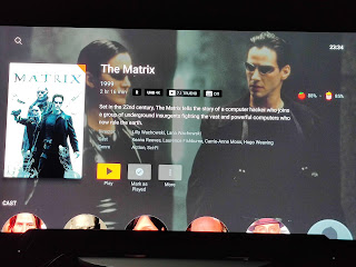 The Matrix 4K 7.1 streamed through the Shield Pro